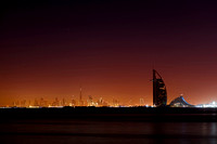 Burj al Arab and Skyline at night