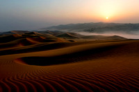 Sunrise over Qasr al Sarab